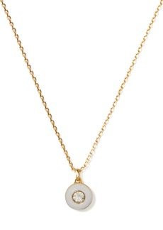 Kate Spade Candy drops round enamel pendant necklace