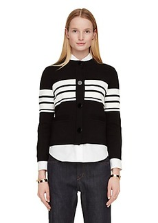 Kate Spade cape stripe sweater jacket