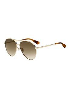 Kate Spade carolanefs metal aviator sunglasses