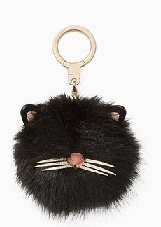 Kate Spade cat pouf keychain
