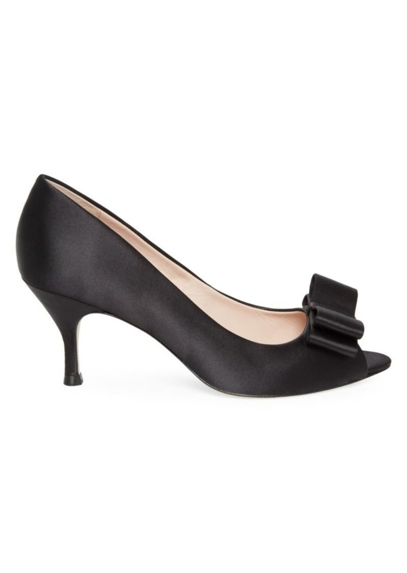 Kate Spade Cecelia Satin Peep Toe Pumps