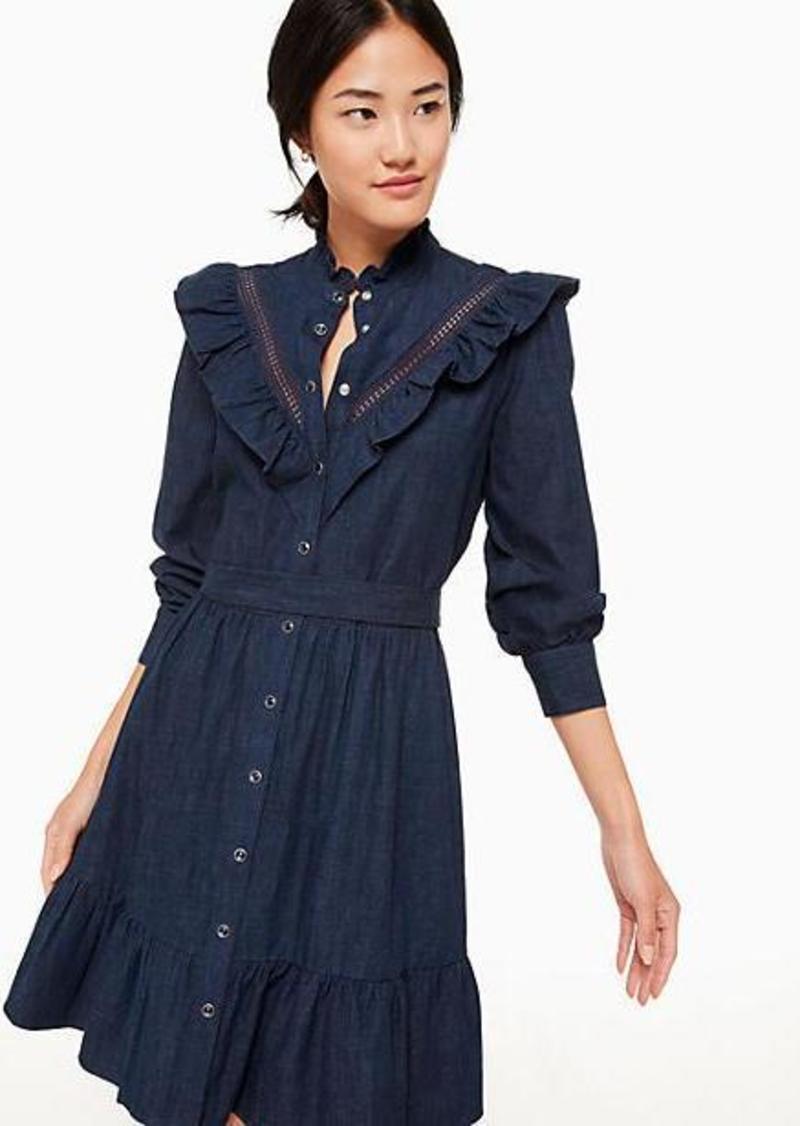 0c866d246f51 SALE! Kate Spade chambray ruffle dress