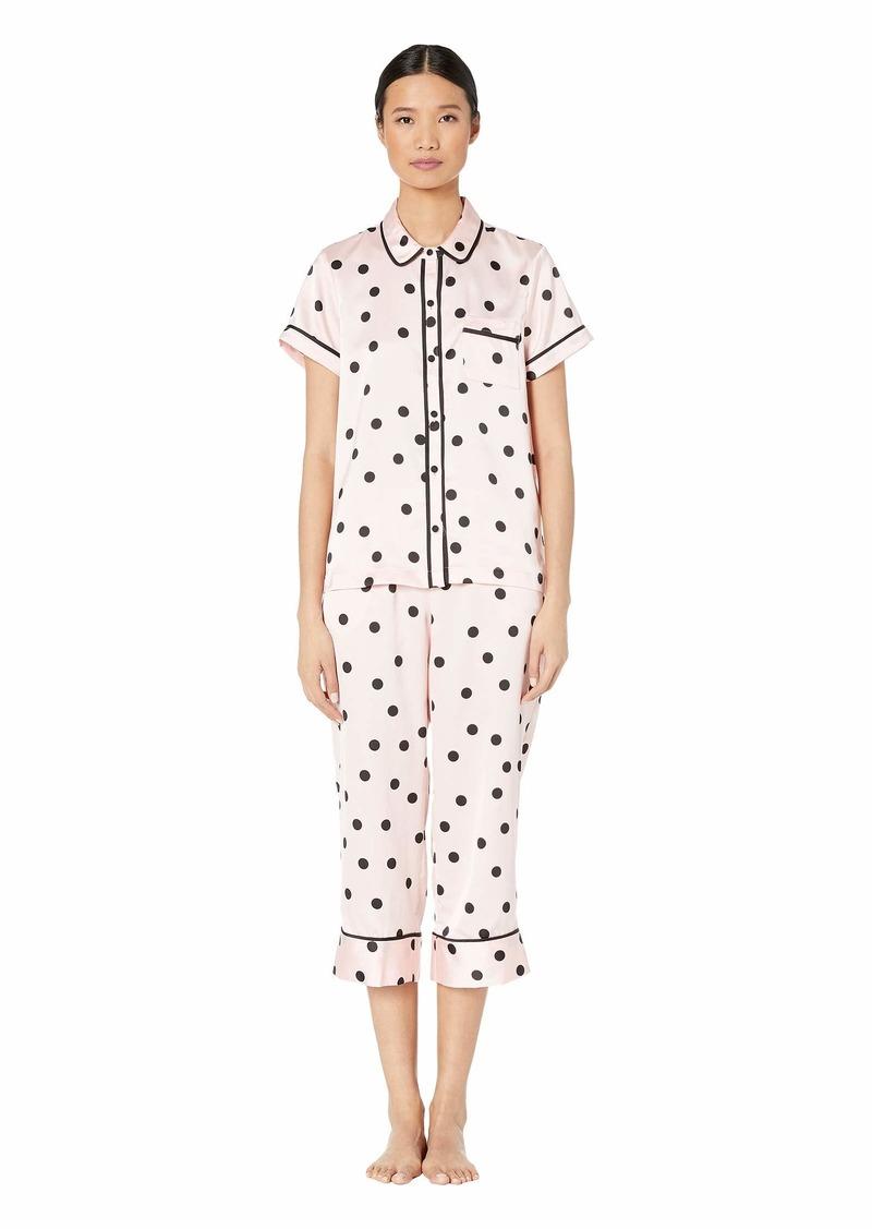 Kate Spade Charmeuse Cropped Pajama Set