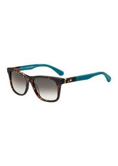 Kate Spade charmine two-tone square sunglasses