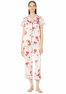 Kate Spade Charmuse Fluttering Poppies Cropped PJ Set