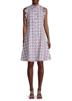 Kate Spade Checkered Cotton A-Line Dress