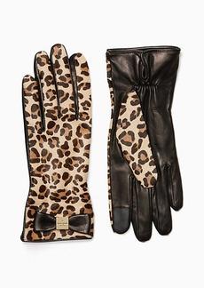 Kate Spade cheetah leather gloves