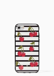 Kate Spade cherry stripe iphone 7/8 case