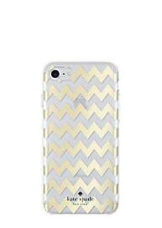 Kate Spade chevron gold foil iphone 7 case