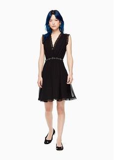 chiffon embellished mini dress