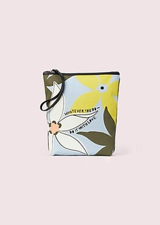 cleo wade x kate spade new york floral pouch