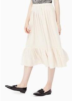 clipped chiffon skirt