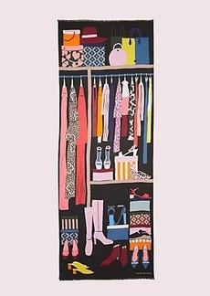 Kate Spade closet scene oblong scarf