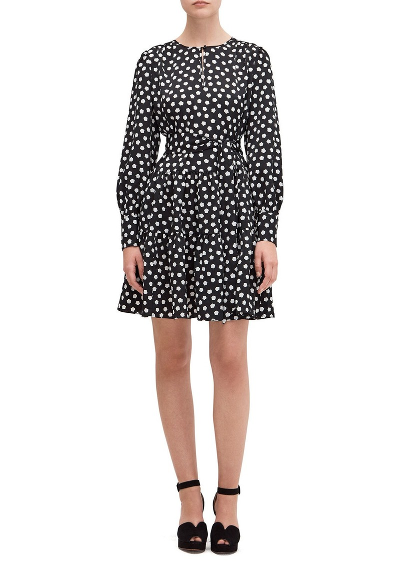 Kate Spade cloud dot long-sleeve dress