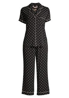 Kate Spade Clover Heart 2-Piece T-Shirt & Capris Pajama Set