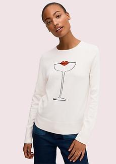Kate Spade cocktail kiss sweater