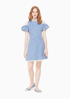 Kate Spade cold shoulder tweed dress