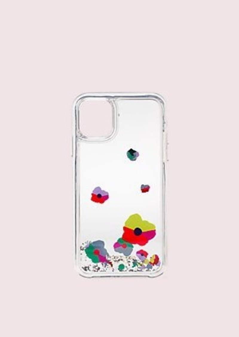 Kate Spade collage liquid glitter iphone 11 case