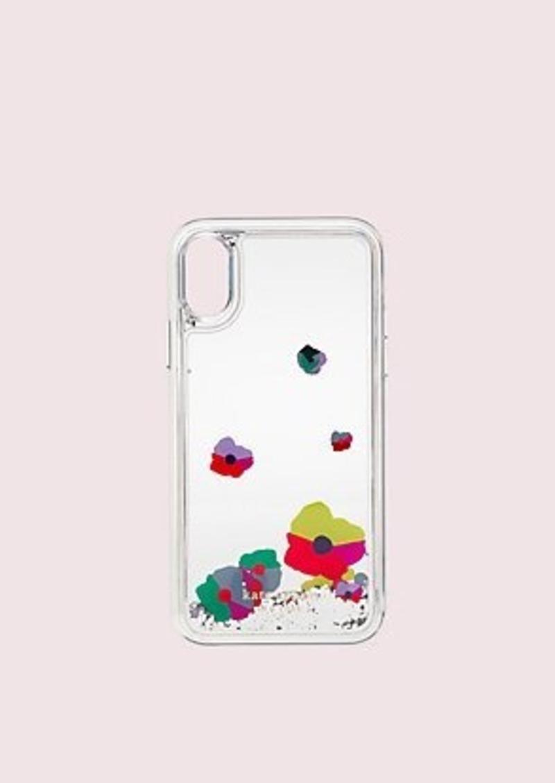 Kate Spade collage liquid glitter iphone xs case