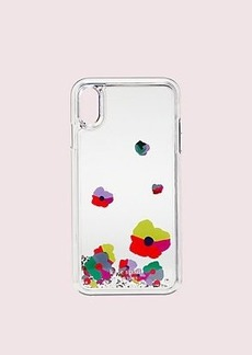 Kate Spade collage liquid glitter iphone xs max case