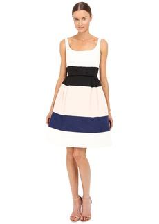 Kate Spade Color Block Satin Faille Dress