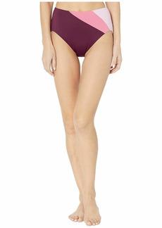 Kate Spade Color Blocking Reversible High-Waist Bikini Bottoms