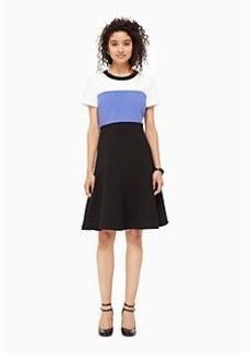 colorblock crepe flip dress