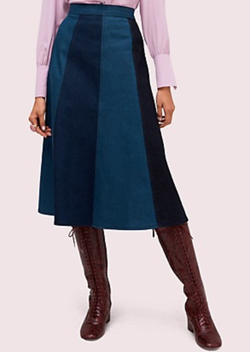 Kate Spade colorblock denim skirt