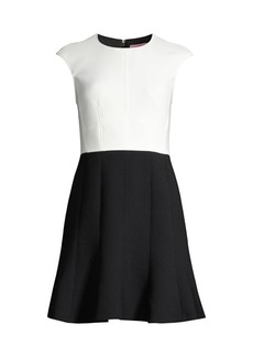 Kate Spade Colorblocked Fit-And-Flare Dress