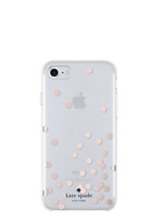 Kate Spade confetti rose gold foil iphone 7 case