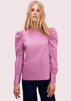 Kate Spade cotton puff sleeve blouse
