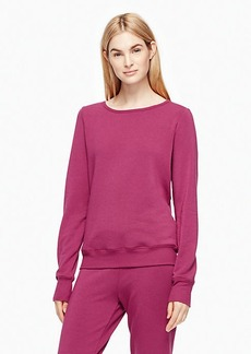 Kate Spade cozy fleece bow pullover