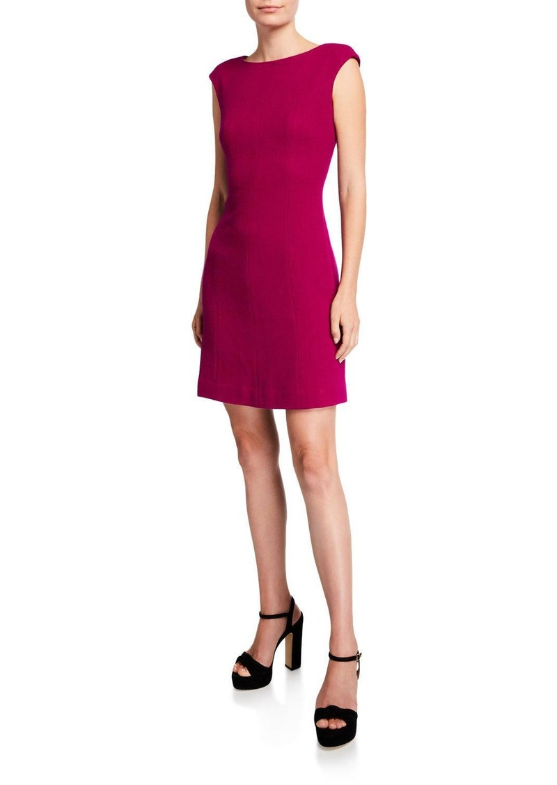 Kate Spade crepe cap-sleeve dress