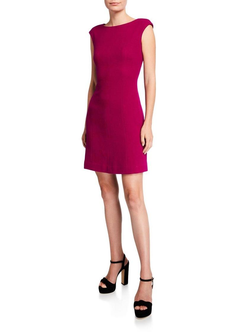 Kate Spade crepe cap-sleeve dress