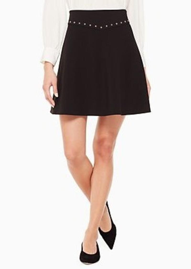 Kate Spade crepe studded skirt