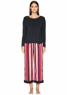 Kate Spade Cropped Long Sleeve Pajama Set