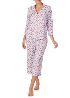 Kate Spade cropped printed jersey pajama set