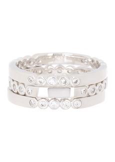 Kate Spade crystal 3-piece stacking ring set