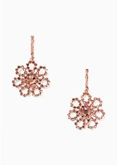 Kate Spade crystal lace leverback drop earrings