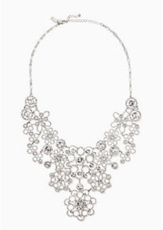 Kate Spade crystal lace statement necklace