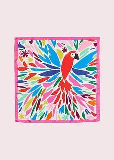 Kate Spade cut paper parrot square