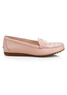 Kate Spade Cyanna Embellished Leather Boat Shoes