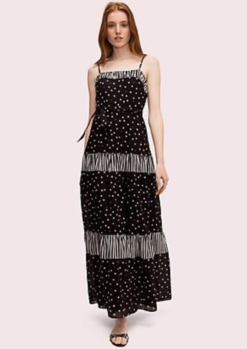 Kate Spade daisy dot mixed maxi dress
