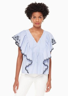 Kate Spade daisy embroidered top