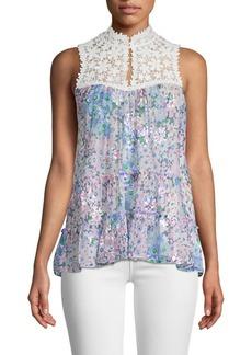 Kate Spade Daisy Garden Lace Floral Top