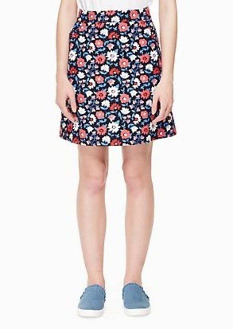 Kate Spade daisy jacquard a-line skirt