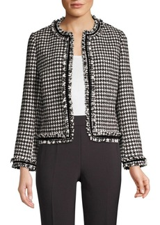 Kate Spade Dashing Beauty Houndstooth Tweed Jacket