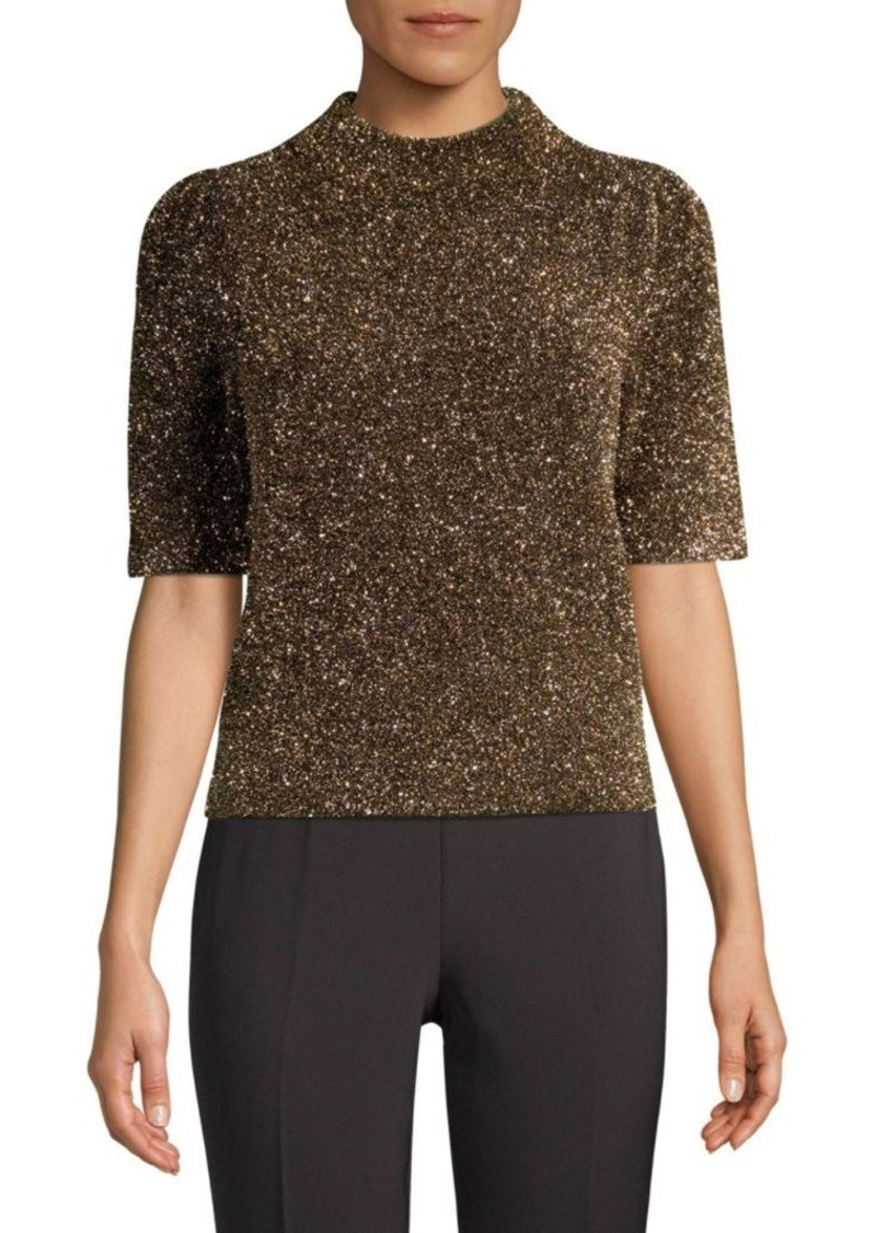 Kate Spade Dashing Beauty Metallic Textured Sweater