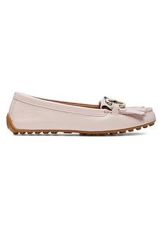 Kate Spade Deck Fringe Leather Loafer Flats