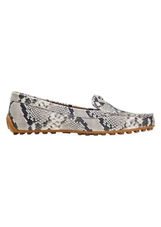 Kate Spade Deck Snakeskin-Embossed Leather Loafers
